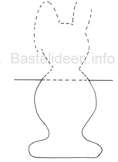 bastelvorlage ostern osterhase k rper fensterbild basteln. Black Bedroom Furniture Sets. Home Design Ideas