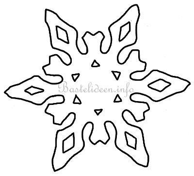 bastelvorlage weihnachten winter schneeflocke 11. Black Bedroom Furniture Sets. Home Design Ideas