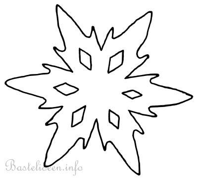 bastelvorlage weihnachten winter schneeflocke 5. Black Bedroom Furniture Sets. Home Design Ideas