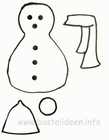 Diese Schneemann Vorlage Im Pdf Format Und
