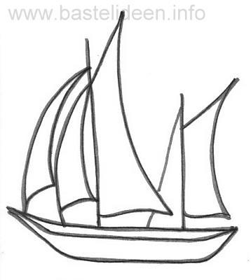 Segelboot zeichnung  Kostenlose Malvorlage - Bastelvorlage - Segelboot