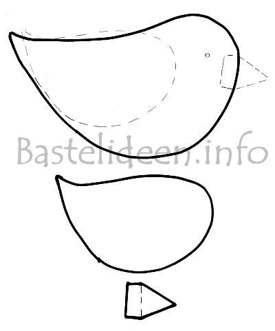 frühlingsbasteln - vogel bastelvorlage, Hause und Garten