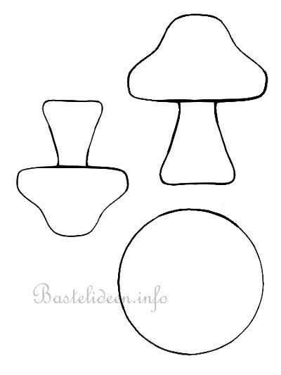 herbstbasteln bastelvorlage pilze. Black Bedroom Furniture Sets. Home Design Ideas