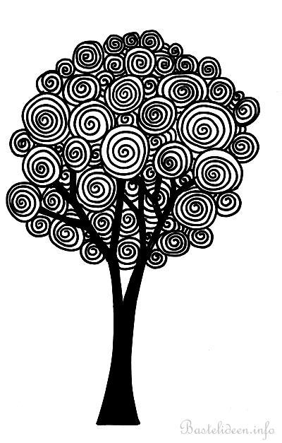Baum Malvorlage/ Ausmalbild für Erwachsene