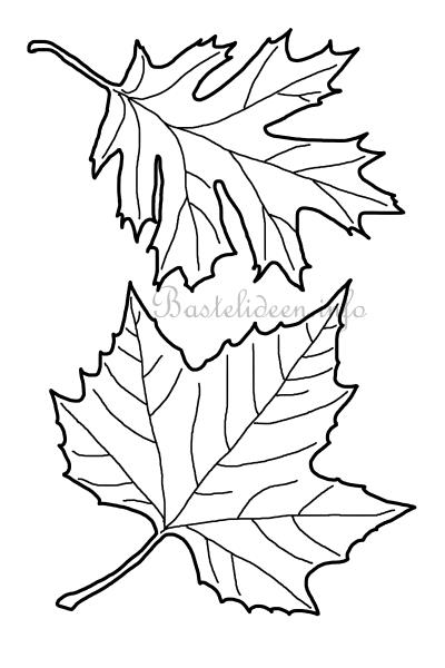 Blätter Basteln Dansenfeesten