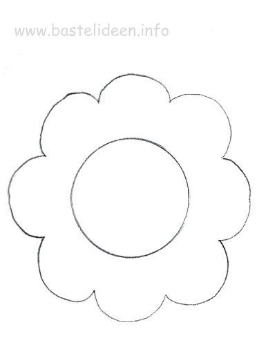 Kostenlose Bastelvorlage Blume
