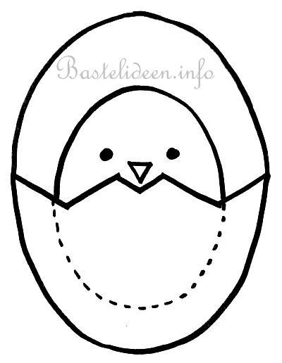 Kostenlose Bastelvorlage Kueken Und Eier