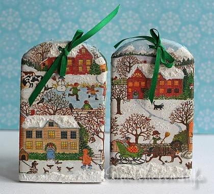 weihnachtsbasteln reliefgiessen dachziegel mit wintermotive. Black Bedroom Furniture Sets. Home Design Ideas