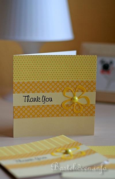 einfache dankeskarte in gelben farben. Black Bedroom Furniture Sets. Home Design Ideas