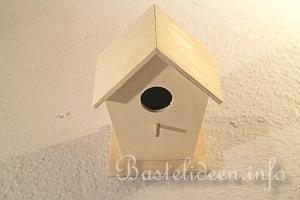 Bastelidee Ein Vogelhaus Aus Holz Verzieren