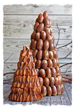 Bastelidee Für Weihnachten - Dekobäume Mit Naturmaterialien Basteln