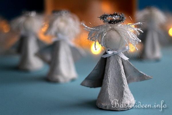 Recycling Basteln Mit Kindern Engel Aus Eierkarton