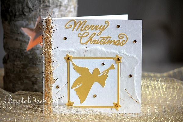 weihnachtskarten basteln weihnachtskarte mit engelmotiv. Black Bedroom Furniture Sets. Home Design Ideas