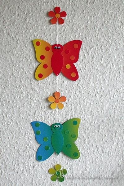 Basteln mit kindern basteln mit papier schmetterling fensterbild b - Fruhlingsbasteln kindergarten ...