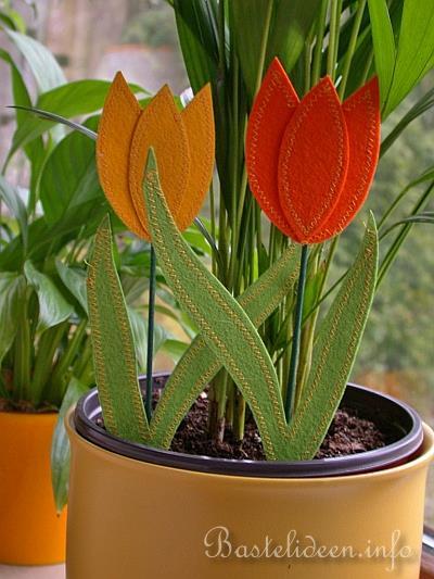 kostenlose bastelideen fr hlingsbasteln filz tulpe. Black Bedroom Furniture Sets. Home Design Ideas