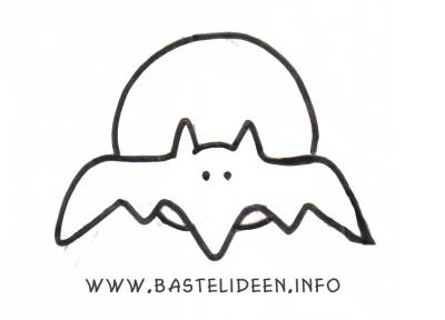 kostenlose bastelvorlagen malvorlagen halloween fledermaus. Black Bedroom Furniture Sets. Home Design Ideas