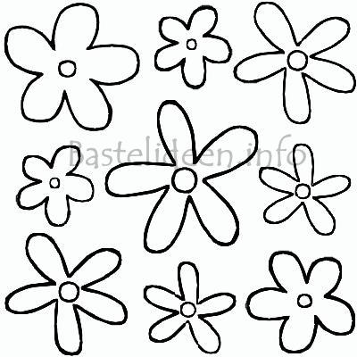 Flower Power Blumen Malvorlage Oder Bastelvorlage