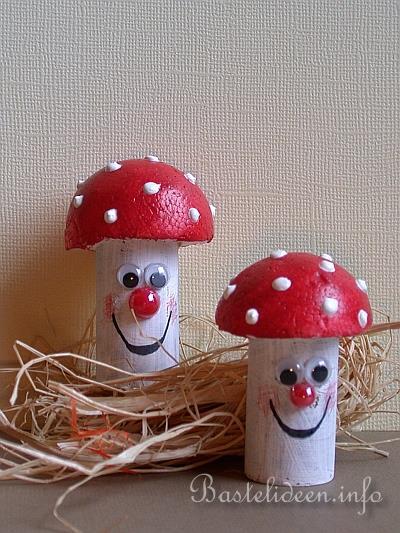 Bastelideen Herbstbasteln Mit Kindern Pilze Aus Weinkorken
