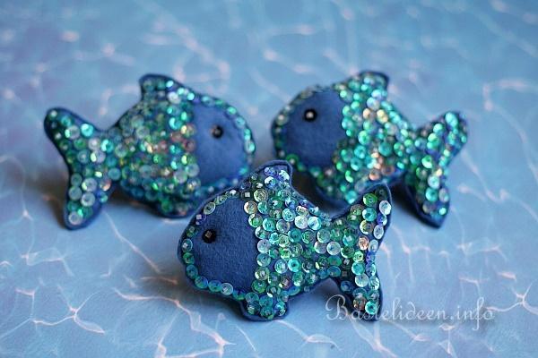 Basteln Mit Filz Glitzernde Filzfische