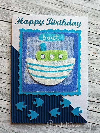 Grusskarten Basteln Geburtstage Boot