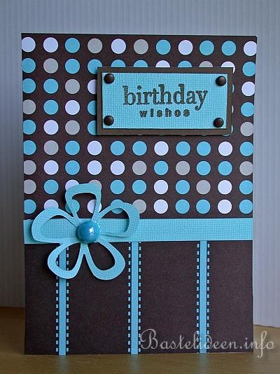 geburtstagskarte basteln stempeln birthday wishes. Black Bedroom Furniture Sets. Home Design Ideas