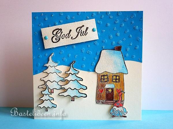 weihnachtskarten basteln god jul weihnachtskarte mit. Black Bedroom Furniture Sets. Home Design Ideas