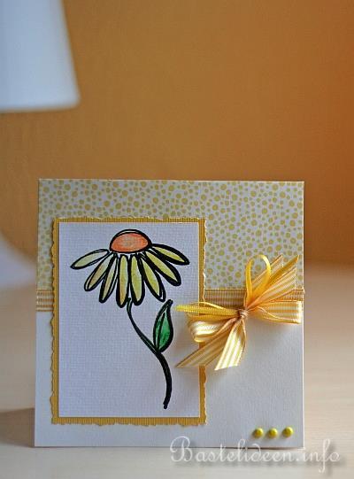 grusskarten basteln grusskarte mit blume. Black Bedroom Furniture Sets. Home Design Ideas
