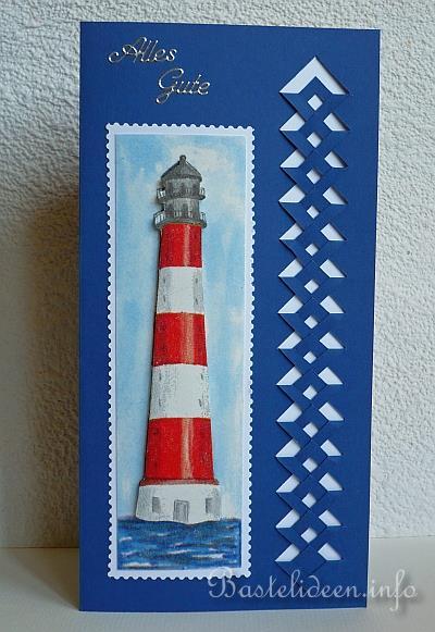 Grusskarten basteln geburtstage leuchtturm for Leuchtturm basteln