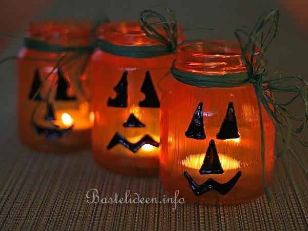 Halloween Basteln Kurbis.Halloweenbasteln Recyclingbasteln Kurbisglaser