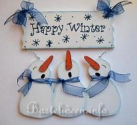 Happy Winter Willkommensschild