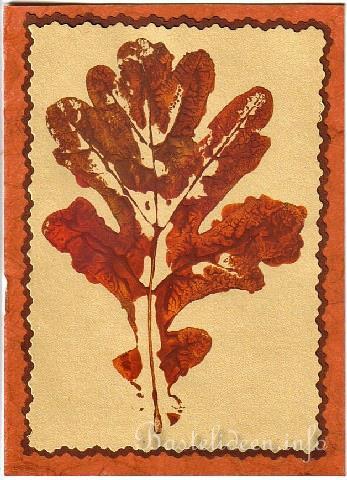 Herbst- Blatt Karte