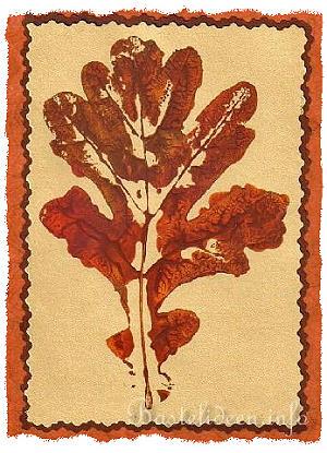 Grusskarten basteln herbst herbstblatt - Herbst bastelideen ...