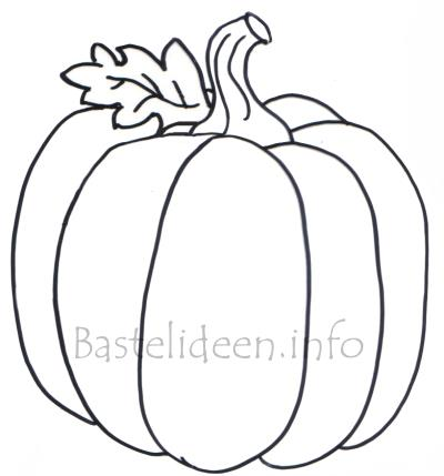 Bastelvorlage Oder Malvorlage Für Den Herbst Kuerbis