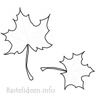 Basteln f r den herbst ahornblaetter vorlage c for Bastelideen herbst papier