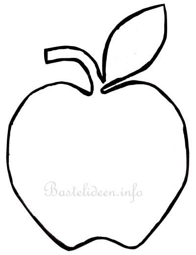 Herbstbasteln Mit Kindern Apfel Bastelvorlage
