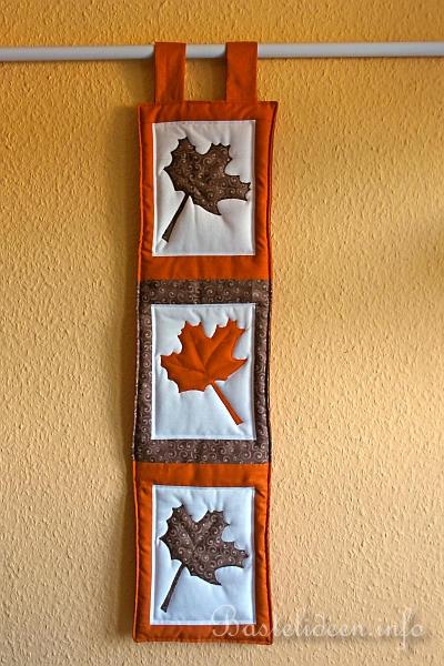 Basteln zum herbst patchwork mini wandbehang - Wandbehang patchwork ...