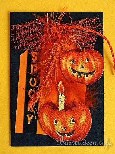basteln im herbst halloween gruselige halloweenkarte. Black Bedroom Furniture Sets. Home Design Ideas