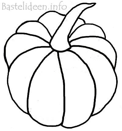 Herbstbasteln Kürbis Bastelvorlage Oder Ausmalbild Malvorlage
