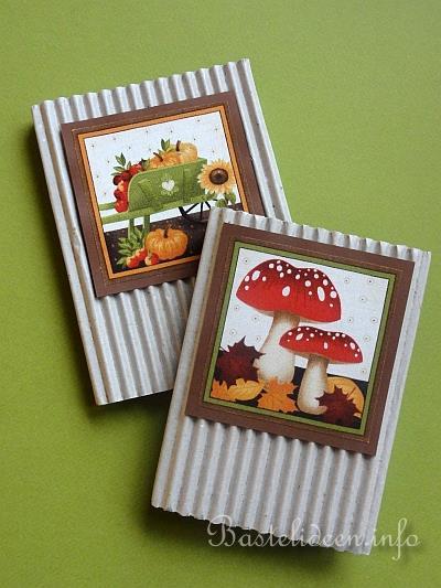 Herbstbasteln Mit Papier Geschenkidee Herbstliche Notizbucher