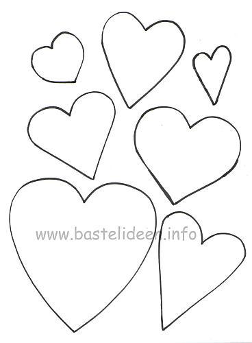 Kostenlose Bastelvorlagen Herzen