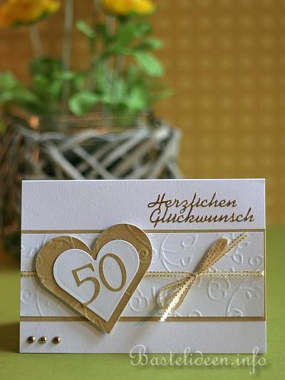 Grusskarte Zur Goldenen Hochzeit, Kreative Einladungen