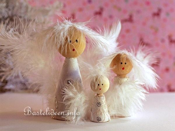 weihnachtsbasteln engel basteln himmlische engelfamilie. Black Bedroom Furniture Sets. Home Design Ideas