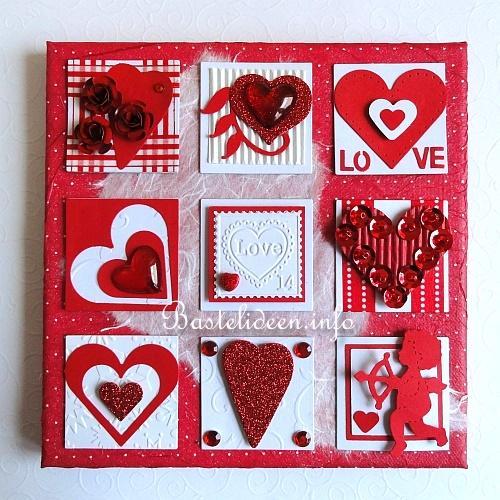Fruhlingsbasteln Keilrahmenbild Mti Inchies Liebe Und Herzen