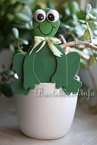 Bastelvorlage frosch als blumentopf dekoration for Blumentopf dekoration