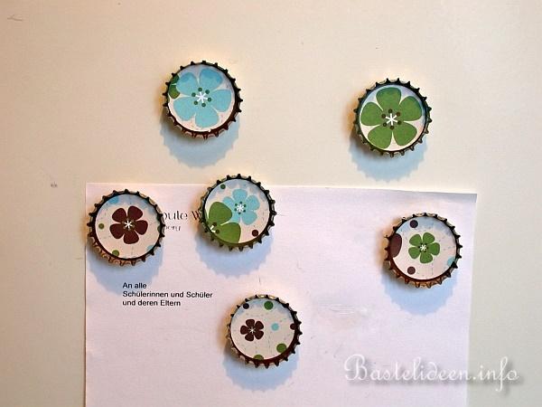 Kronkorken Recycling - Kühlschrank Magneten