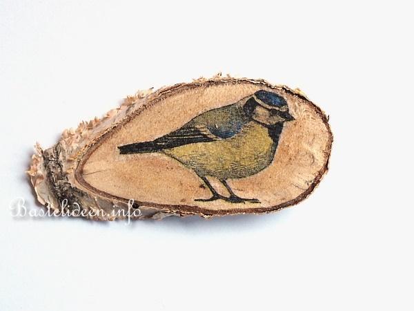 Bastelideen f r den fr hling magnete aus baumscheiben - Baumscheiben basteln ...