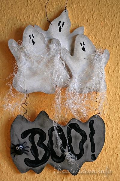 Halloween Basteln Holz.Basteln Mit Holz Laubsägearbeit Halloweengespenster Türdekoration
