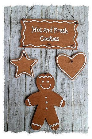 basteln mit holz weihnachten laubsaegearbeit gingerbread cookies. Black Bedroom Furniture Sets. Home Design Ideas