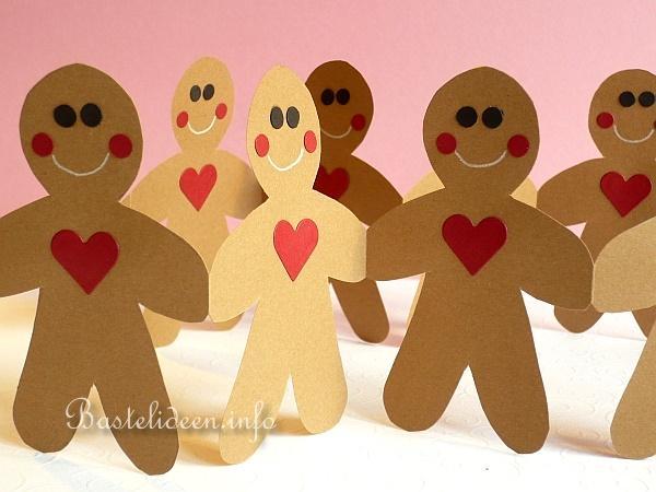 Ginger Bread Man Paper Craft