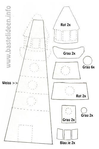 Kostenlose bastelvorlagen sommerbasteln bastelvorlage for Leuchtturm basteln